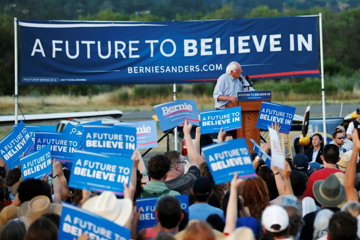 Bernie Sanders' supporters started seeing fake news in early 2016.