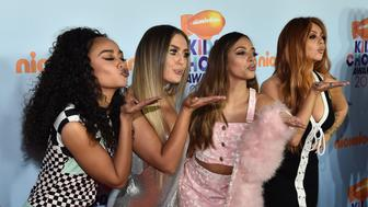 LOS ANGELES, CA - MARCH 11:  Singing group Little Mix at Nickelodeon's 2017 Kids' Choice Awards at USC Galen Center on March 11, 2017 in Los Angeles, California.  (Photo by Alberto E. Rodriguez/Getty Images)
