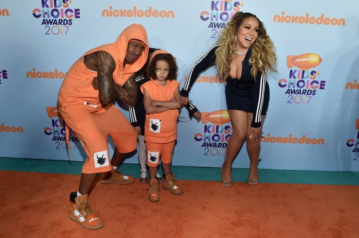 Mariah Carey and Nick Cannon bring their twins to Kids' Choice Awards