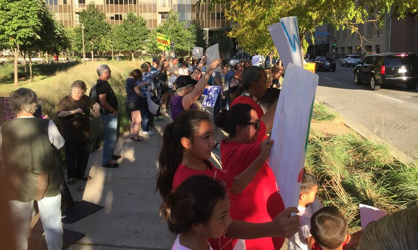 Protest of the Dakota Pipeline in Dallas, Texas.