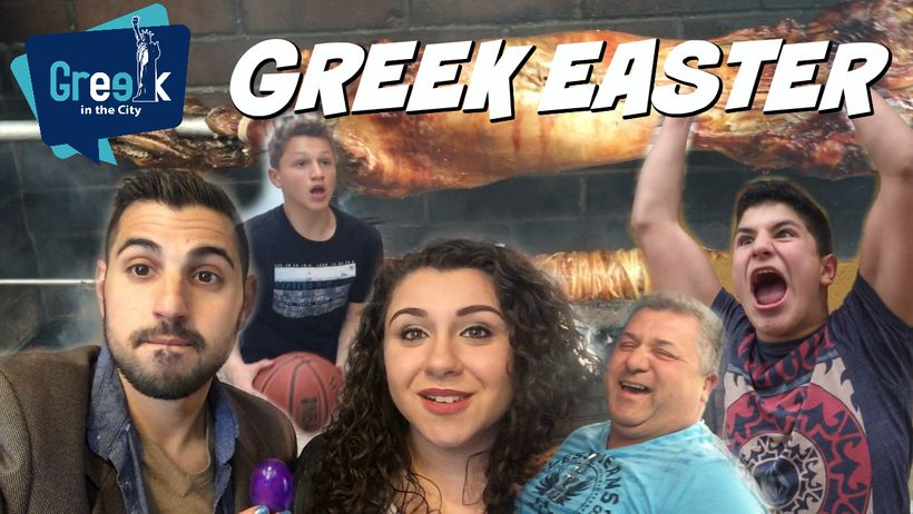 Greek Easter vlog thumbnail from Greek in the City