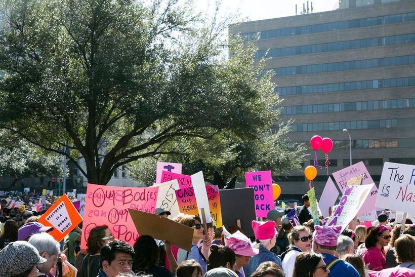 Women's March, January 22, 2017 in Austin, Texas.