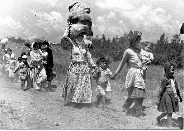 Palestinian women forced to leave their homes during the Nakba