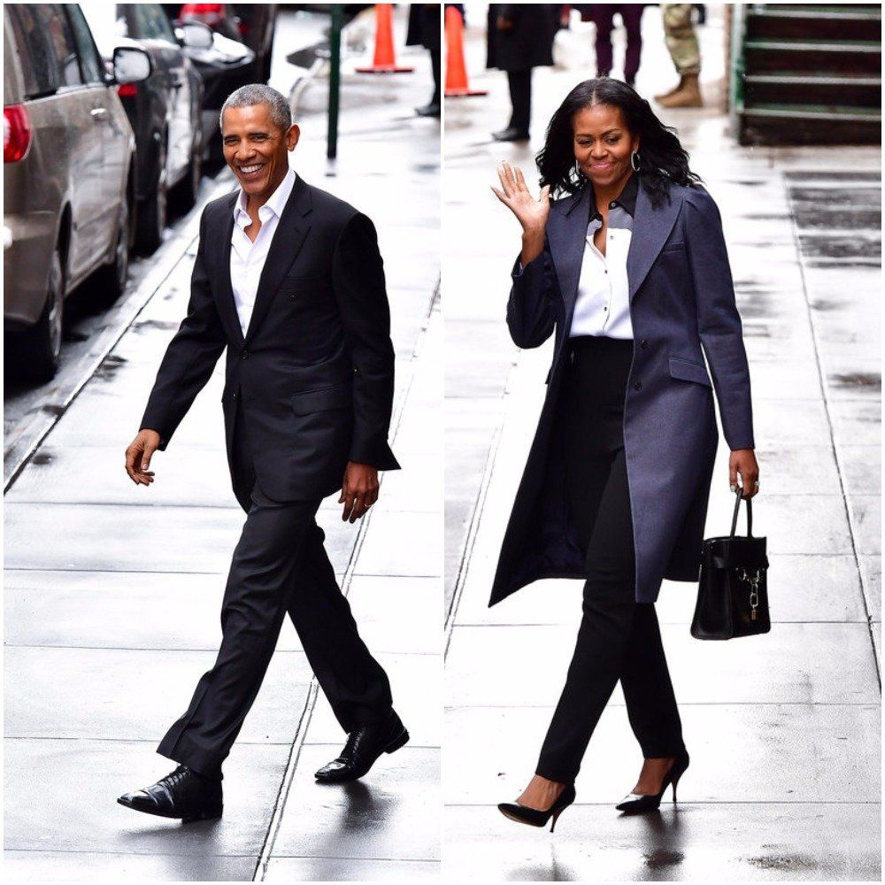 The Obamas Wear Matching Power Suits For Their Lunch Date With