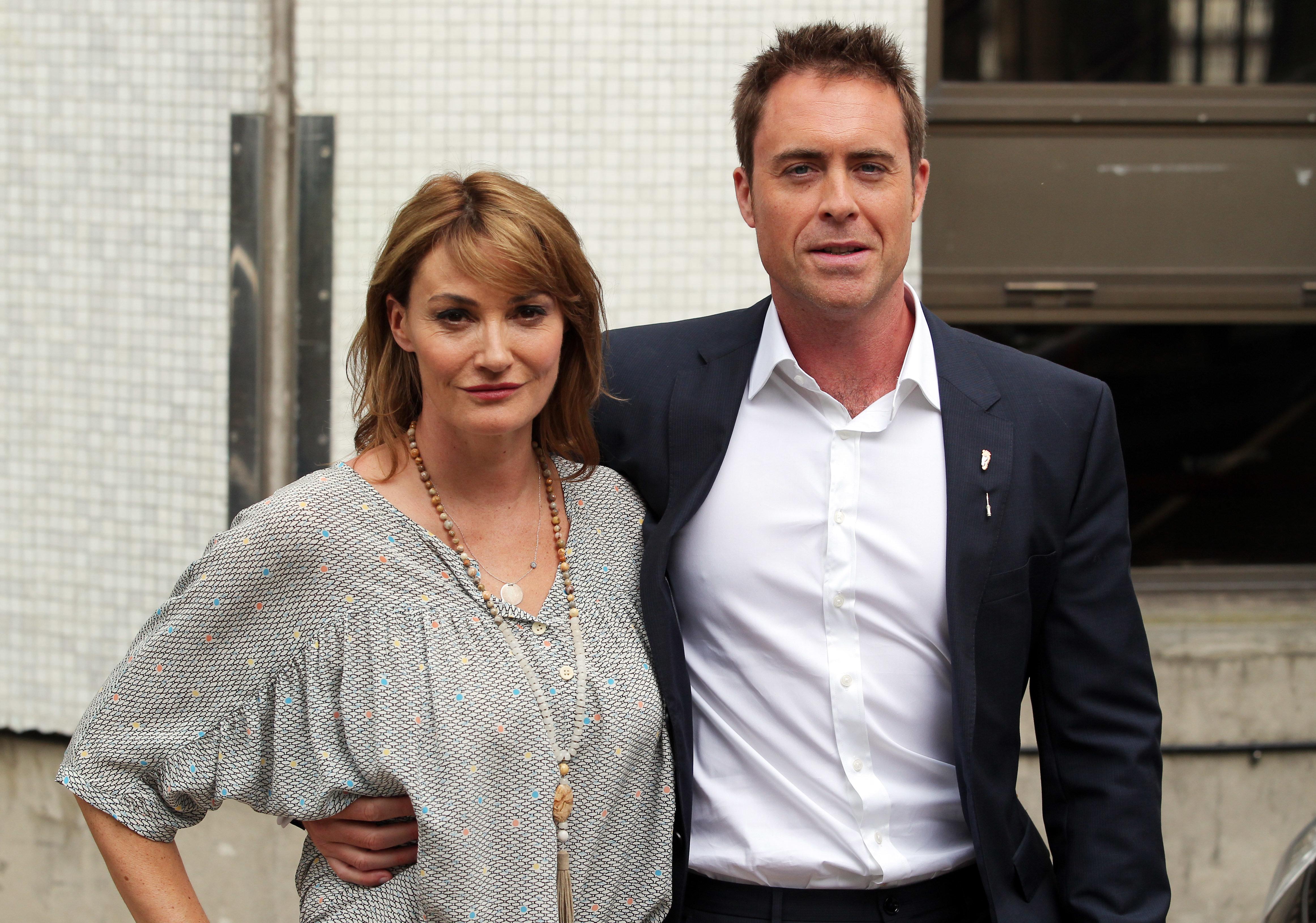 Sarah Parish and husband Jim