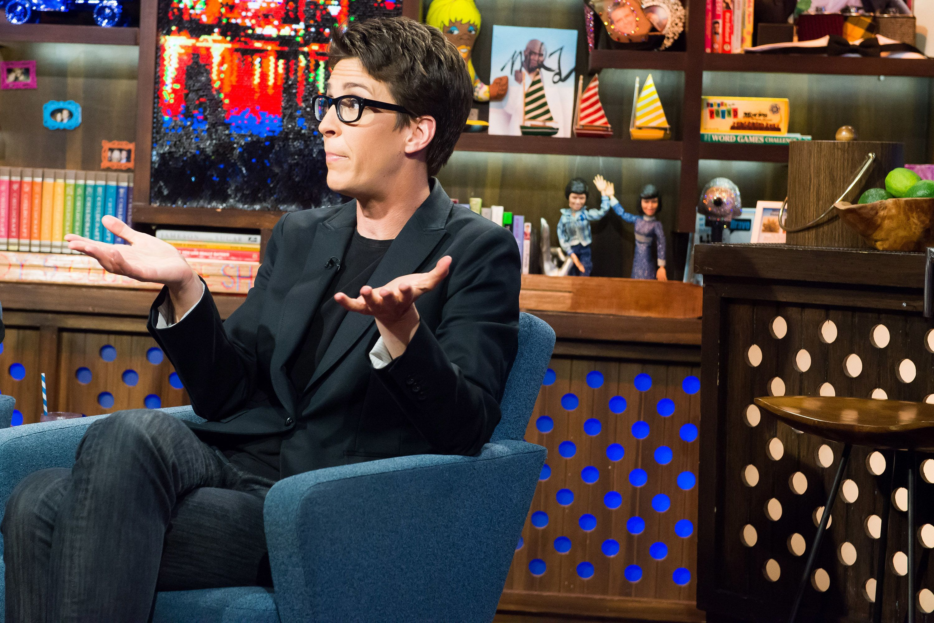Rachel Maddow has benefitted from largely ignoring the noise sitting right in front of her on Twitter every day.
