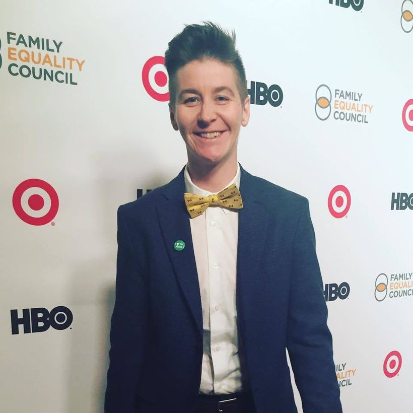 The Pride & Joy Project's Kersh Branz on the red carpet at the 2017 LA Impact Awards benefiting Family Equality Council.