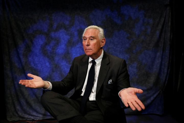Political adviser Roger Stone boasts of his connections to the founder of WikiLeaks in October.