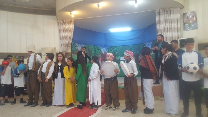 Cultural performance from Yezidi youth