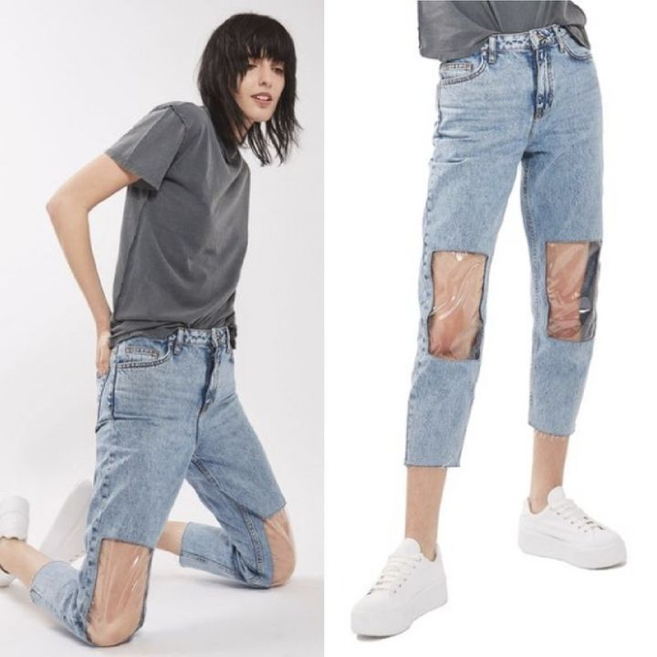 'Clear Knee Mom Jeans' are apparently a thing