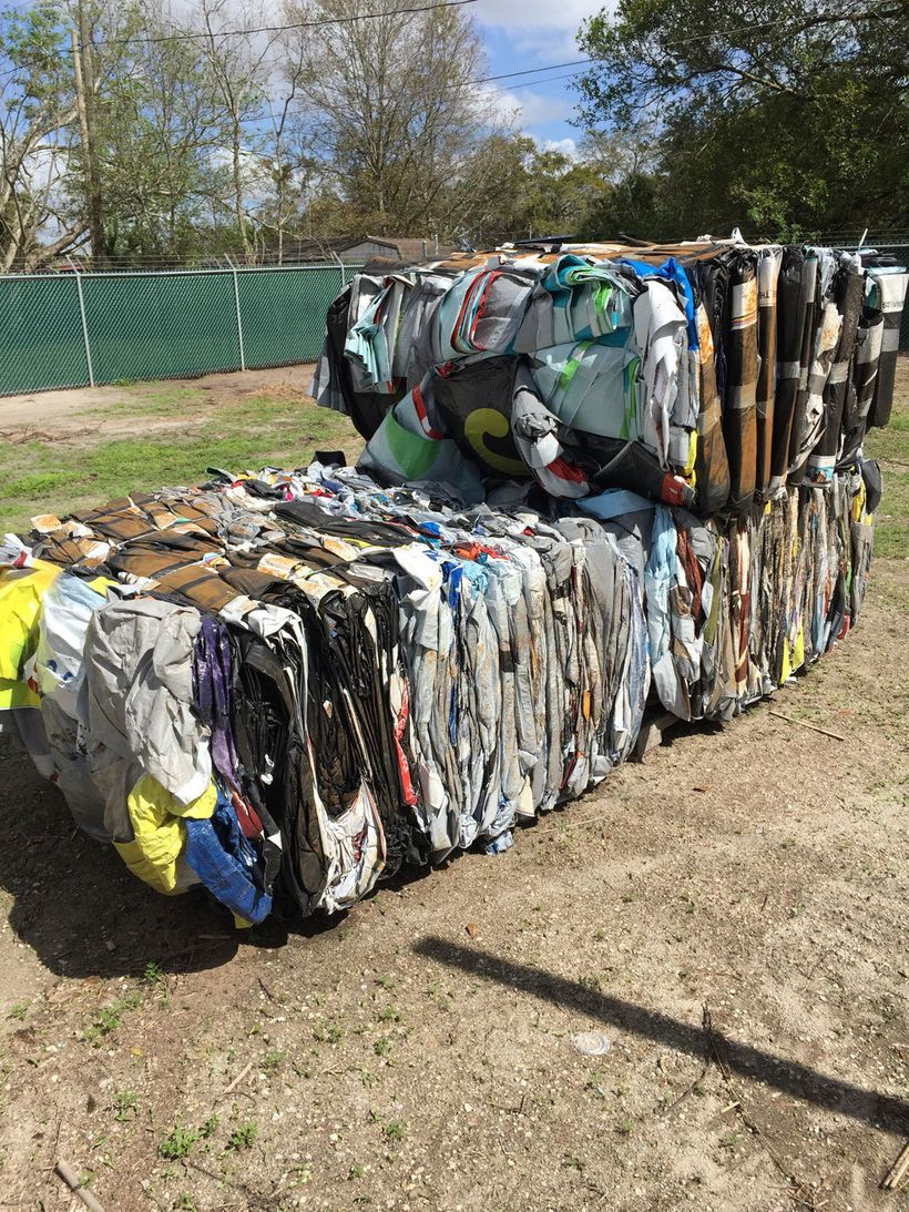 <em>Poster bales in Orlando, ready for recycling</em>