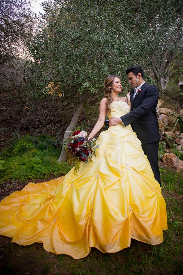 Raelyn dip-dyed her own once-white wedding dress in a 32-gallon tub in her backyard.