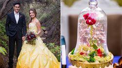 Vas a quedar hechizado por estas fotos de boda inspiradas en 'La Bella y la