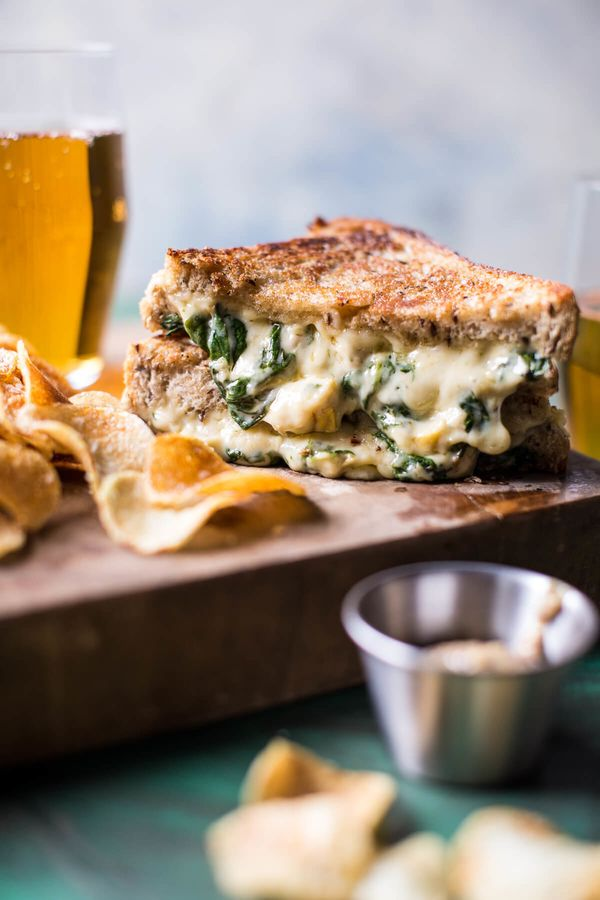 """<strong>Get the <a href=""""https://www.halfbakedharvest.com/irish-pub-spinach-artichoke-melt/"""" target=""""_blank"""">Spinach And Arti"""