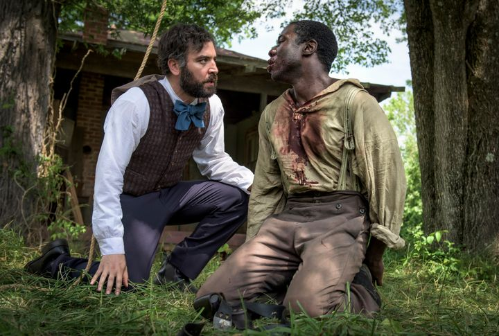 Josh Radnor and McKinley Belcher III in <em>Mercy Street</em>.