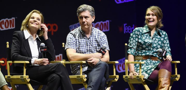 Jessica Walter, Chris Parnell and Amber Nash at the 2016 New York Comic Con.