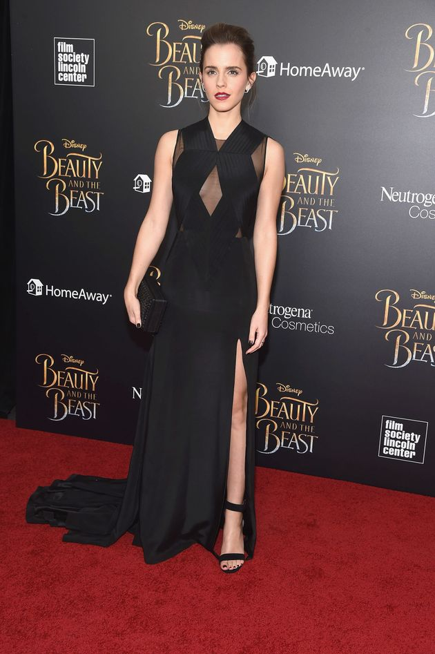 Watson in a Givenchy gown and Eva Fehren