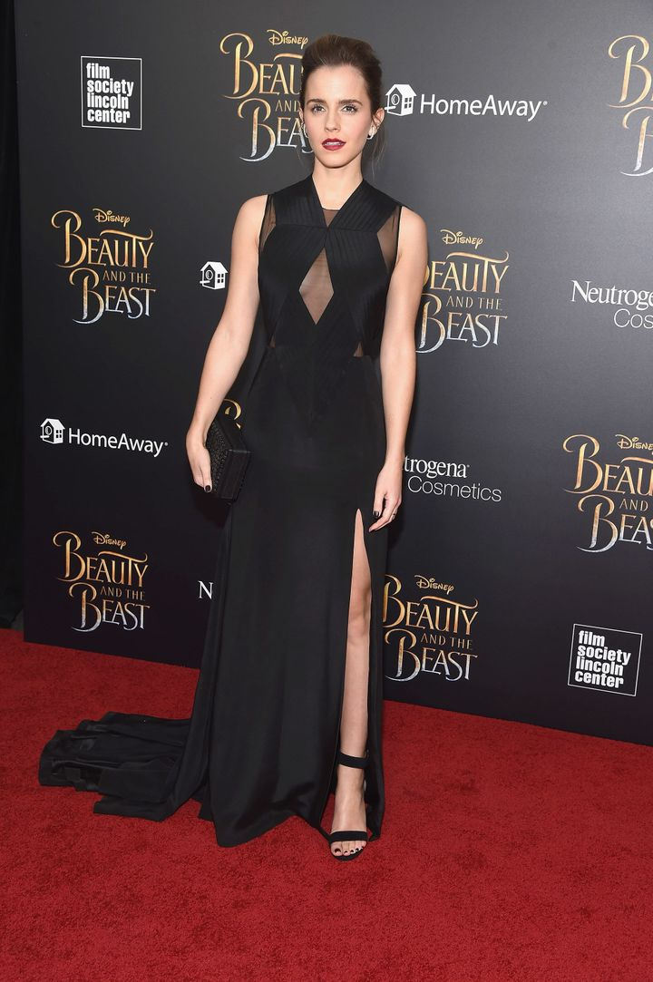 Watson in a Givenchy gown and Eva Fehren jewelry.