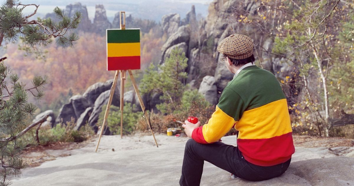 Hank Schmidt in der Beek in the Elbe Sandstone Mountains in Germany.