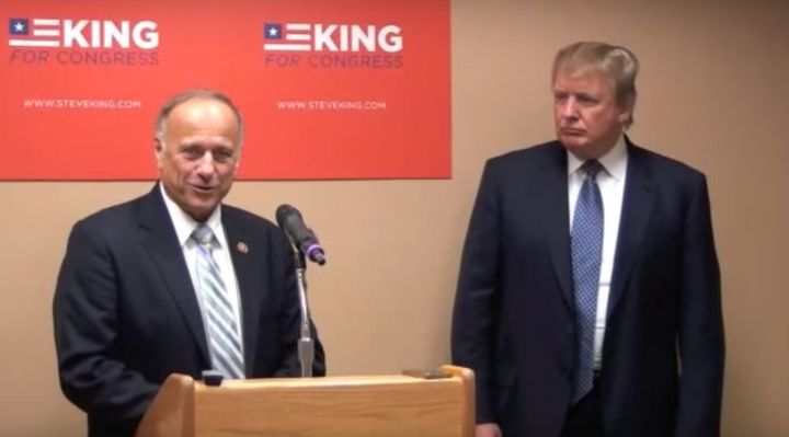 Donald Trump appeared at a campaign event with King in 2014.