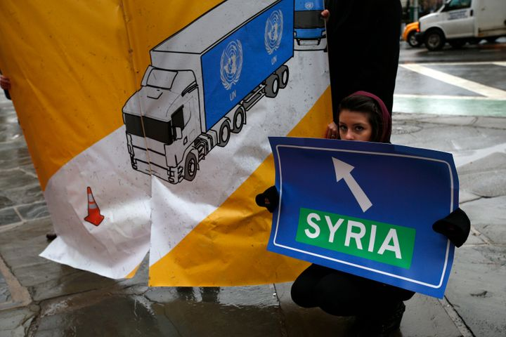 Three years ago, activists were protesting outside U.N. headquarters in New York overthe holdupsin delivering hum