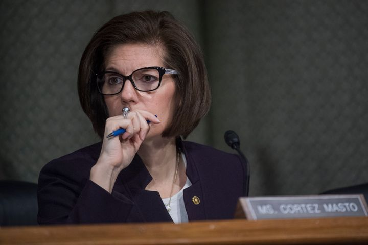 "Sen. Catherine Cortez Masto said ""racist rhetoric"" is feeding hate."