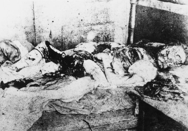The virtually unrecognisable remains of the Ripper's last victim, Mary Jane