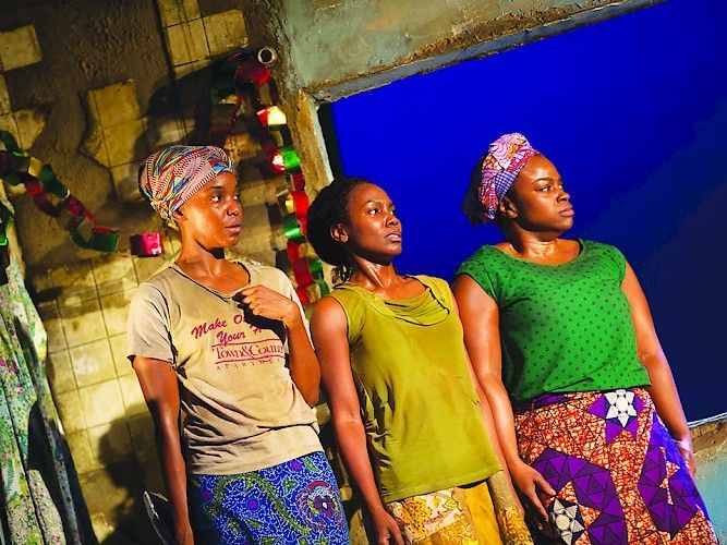 Ayesha Jordan, Joniece Abbott-Pratt and Stacey Sargeant in a scene from<strong><em>Eclipsed</em></strong>