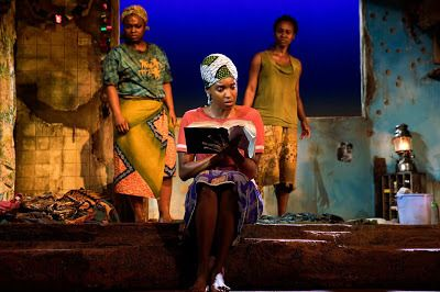 Stacey Sargeant, Ayesha Jordan, and Joniece Abbott-Pratt in a scene from <strong><em>Eclipsed</em></strong>