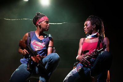 Ayesha Jordan and Adeola Role in a scenefrom <strong><em>Eclipsed</em></strong>