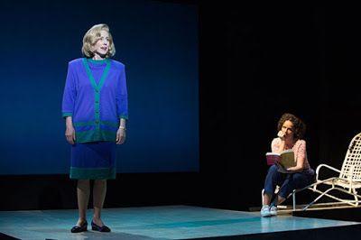 Sarah Jane Agnew as Sarah Weddington with Sara Bruner as Norma McCorvey in a scene from<strong><em>Roe</em></strong>