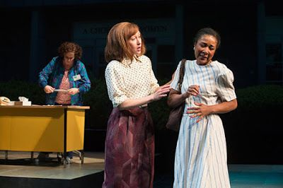 Sara Bruner, Amy Newman, and Gina Daniels in a scene from in <strong><em>Roe</em></strong>