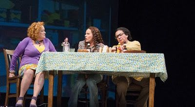 Pamela Dunlap, Sara Bruner, and Catherine Castellanos in a scene from <strong><em>Roe</em></strong>