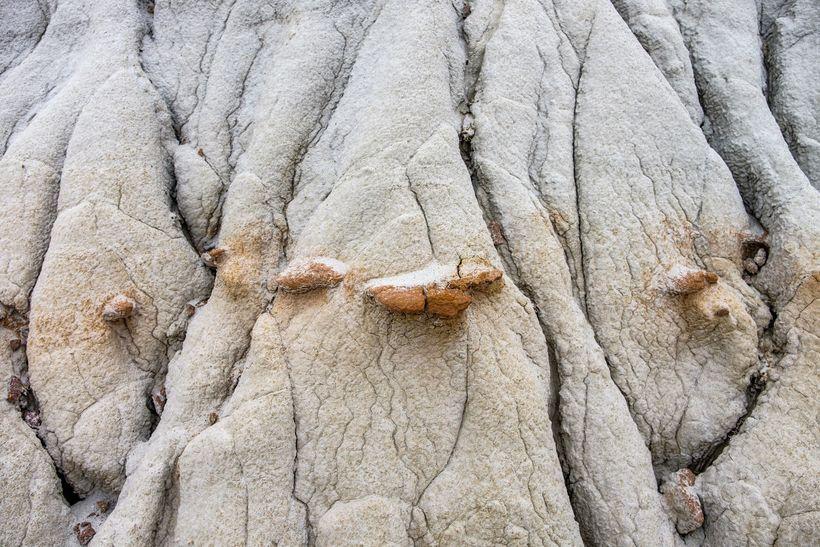 <em>65-million year old badlands in the south unit.</em>