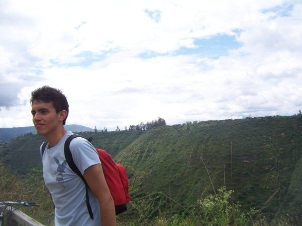 Mancheno in Ecuador, before he fled that country for