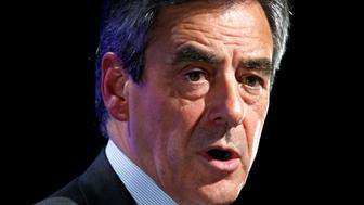 Francois Fillon, former French Prime Minister, member of the Republicans political party and 2017 presidential election candidate of the French centre-right delivers his speech at a campaign rally in Orleans, France, March 7, 2017.  REUTERS/Charles Platiau
