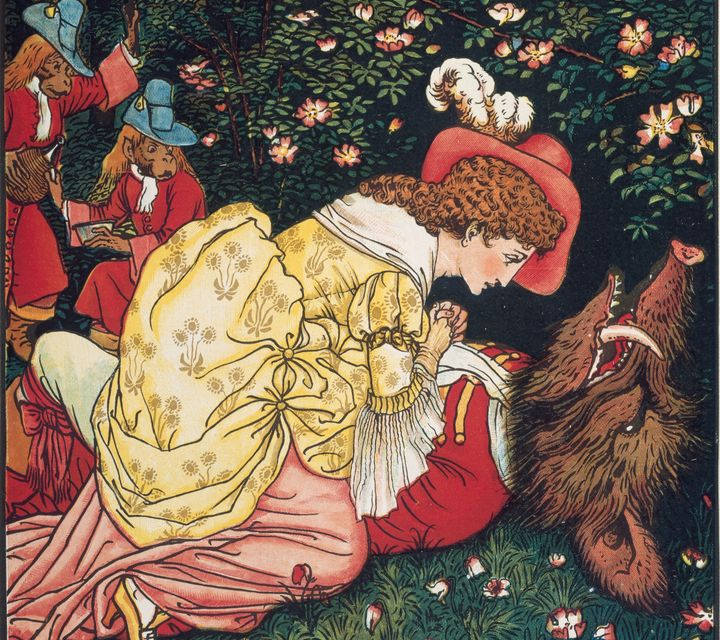 Illustration by Walter Crane for an 1874 edition of Beauty and the Beast.