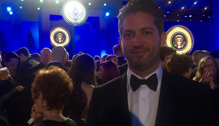 Jeremy Broderick attends President Trump's inaugural ball in Washington, D.C. on January 20, 2017.