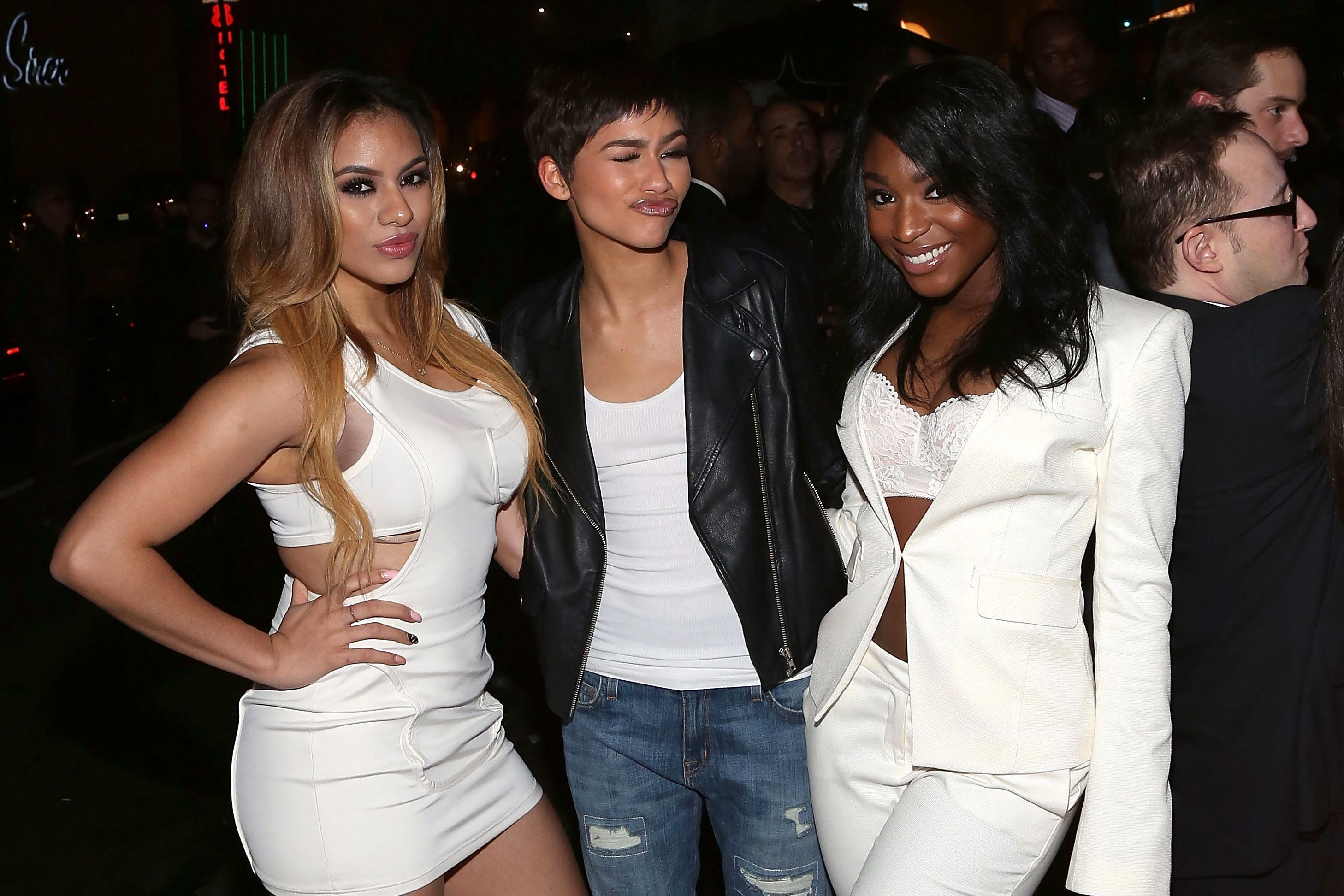 LOS ANGELES, CA - FEBRUARY 08:  Dinah-Jane Hansen, Zendaya, and Normani Kordei attend the 2015 Republic Records And Big Machine Label Group Post GRAMMY Celebration at Warwick on February 8, 2015 in Los Angeles, California.  (Photo by Taylor Hill/FilmMagic)