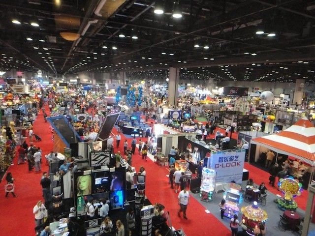 <em>At the annual Amusement Industry conference the latest in high end arcade games - and roller coasters - feature VR.</em>