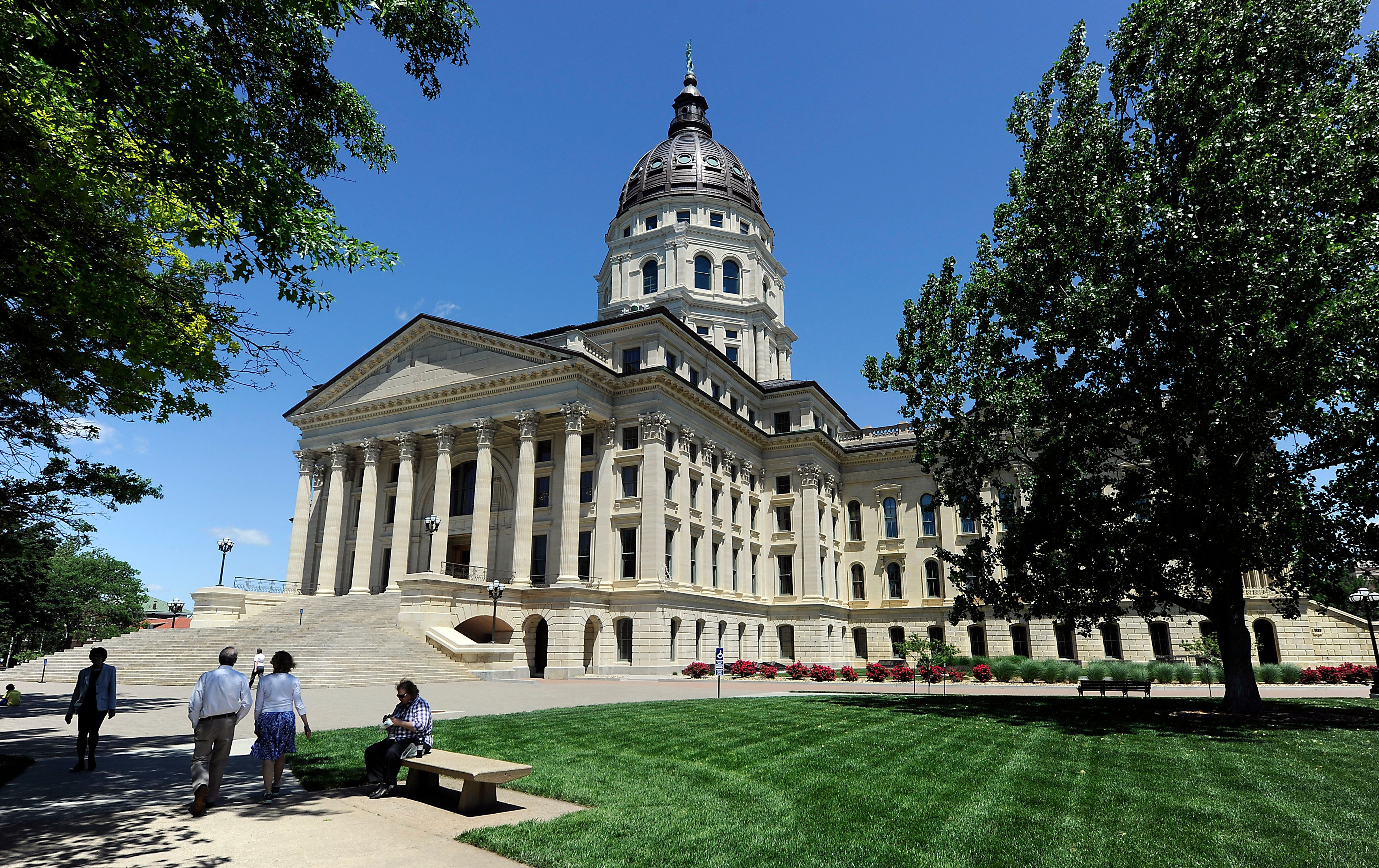 The Kansas State Capitol building in Topeka, Kansas.