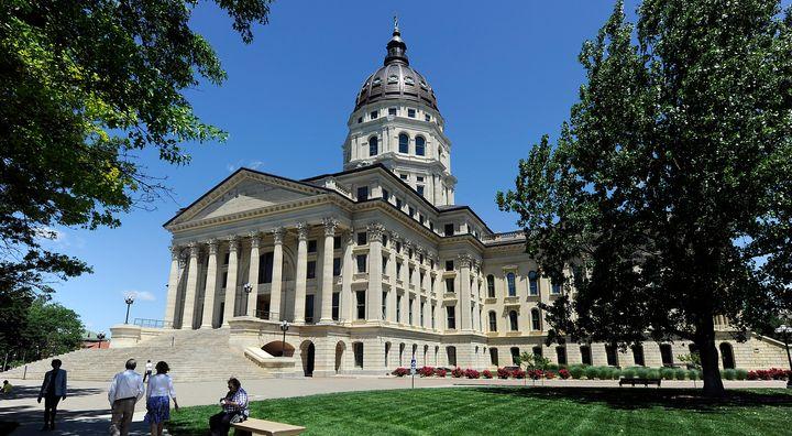 The Kansas State Capitol building in Topeka, Kansas.