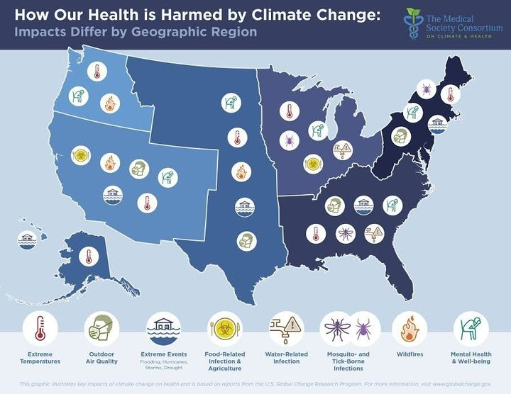 The health risks posed by climate change vary by region.