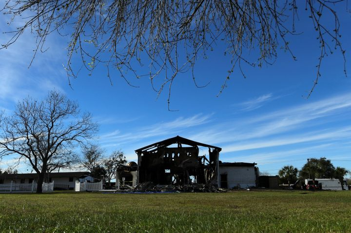 A mosque in Victoria, Texas was destroyed by fire in January. Authorities determined the cause of the blaze to be arson.&nbsp