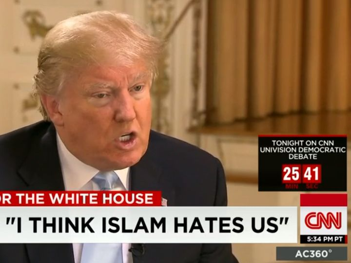 Then-candidate Donald Trump on CNN making a generalizing claim about Islam without evidence.