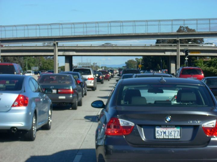 <p>Traffic in Silicon Valley</p>