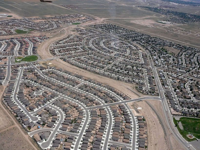 Outlying development in Rio Rancho, New Mexico