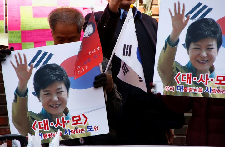 Ousted leader Park Geun-hyehas denied any wrongdoing.