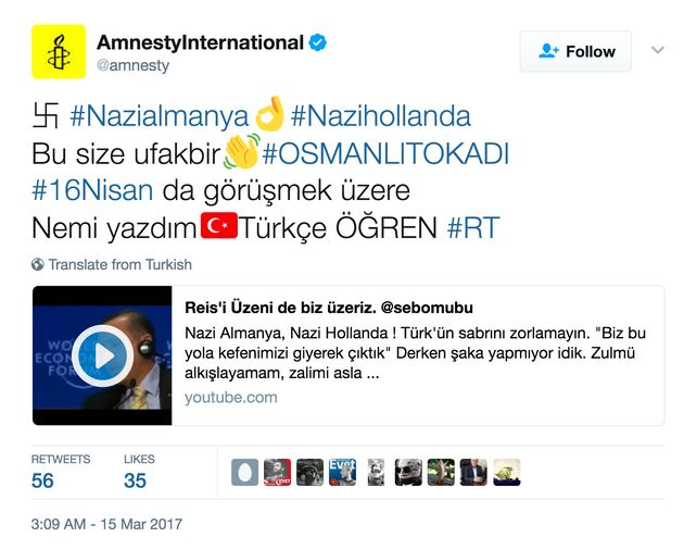 Hackers Attack High-Profile Twitter Accounts, Post Swastikas And Pro-Erdogan