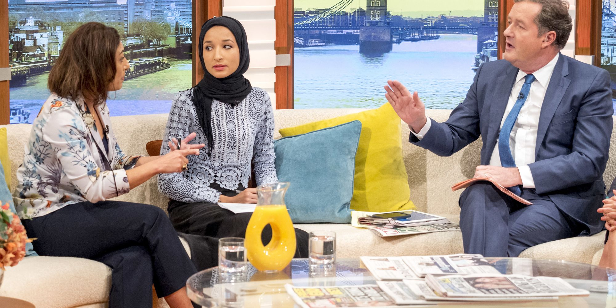 'Good Morning Britain': Loose Women's Saira Khan Clashes With Piers Morgan Over Headscarf Debate ...